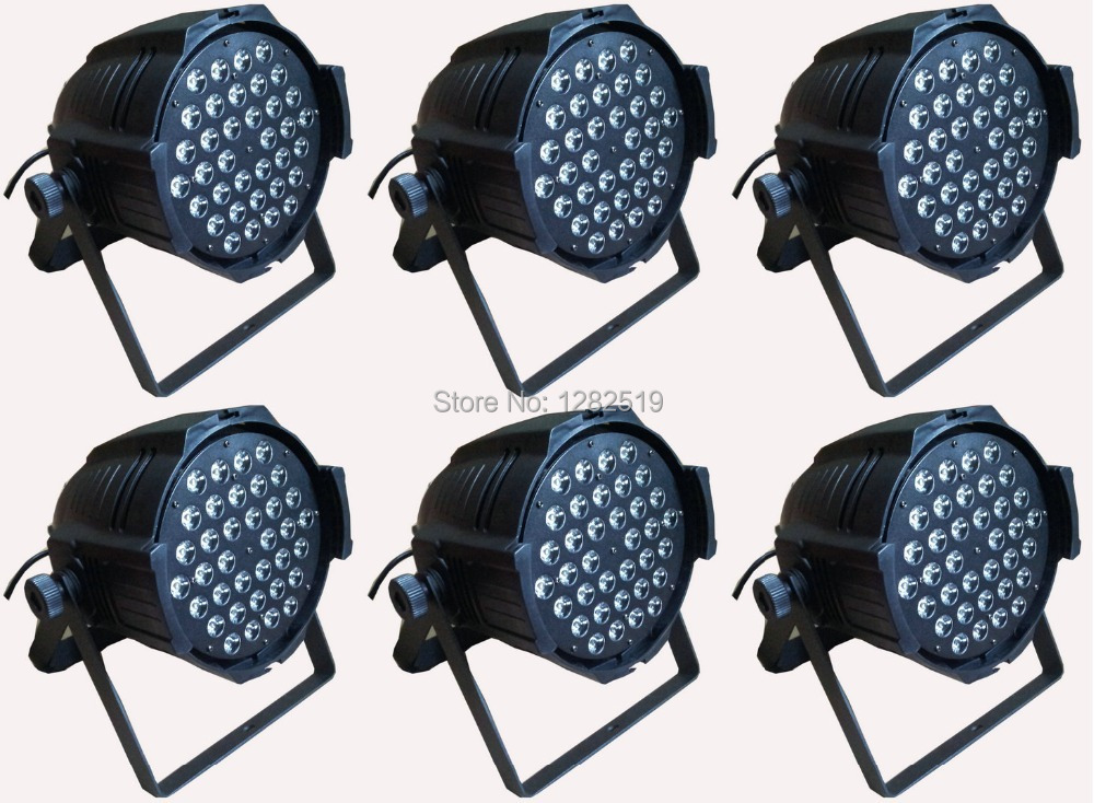 Free Shipping:6pcs 54*3W RGBW LED DJ par64 lights stage lighting stage