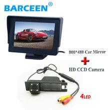 В продаже 4.3 «TFT автомобиля резервное копирование монитор + автомобильная камера заднего вида 4 led ccd для Opel Astra H/Corsa D/Meriva/Vectra C/Zafira B/FIAT
