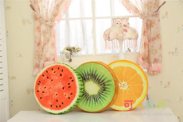 37 cm Brinquedo de pelúcia almofada de frutas travesseiro melancia travesseiro Brinquedo sofá do escritório almofada almofadas decorativas cojines presente de aniversário