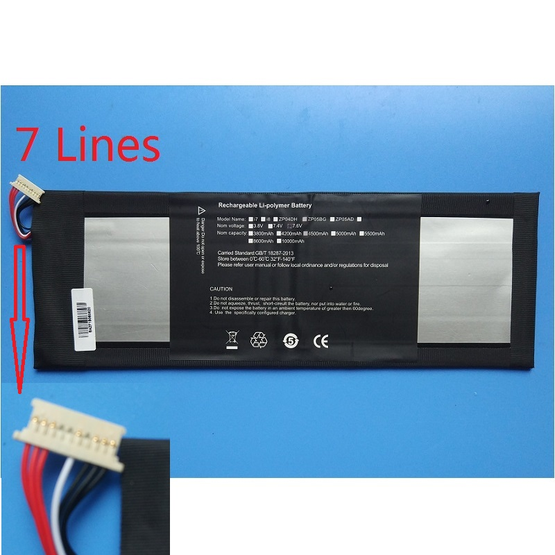 HW3487265 3282122-<font><b>2s</b></font> <font><b>Battery</b></font> for Jumper EZbook 3 Pro Tablet PC EZbook3 SL New Li-polymer Rechargeable Replacement 7.6V 4500mAh image
