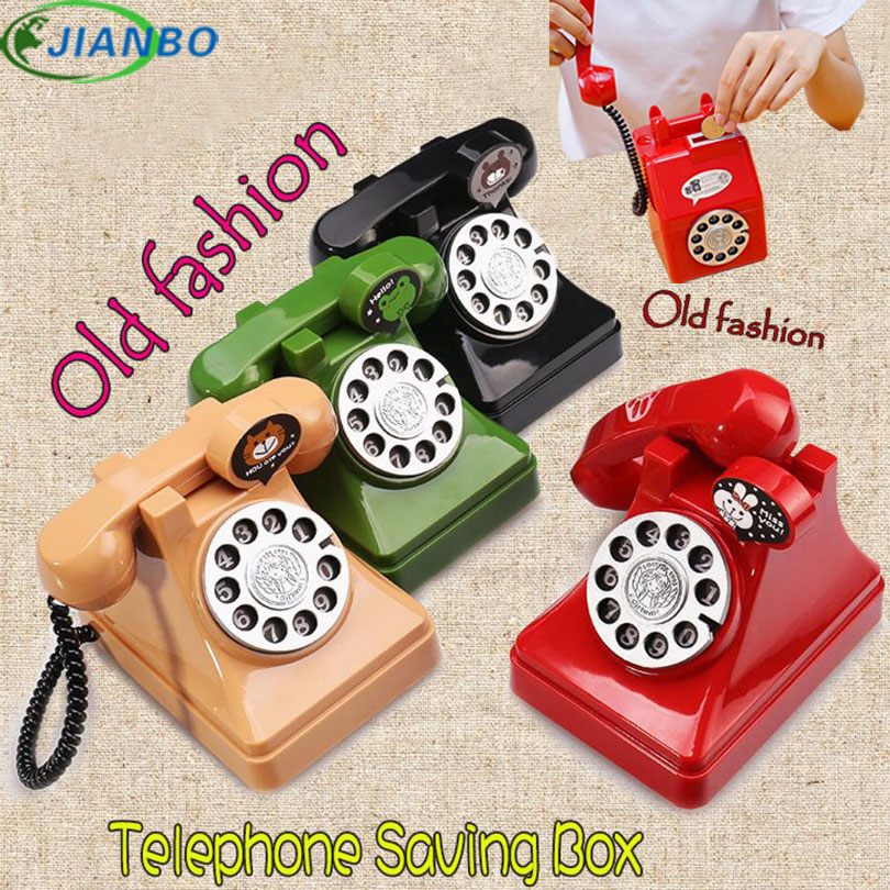 Original RetroTelephone Money Box Old Fashion Telphone Secret Safe Box Kids Gift Vintage Toys For Coin Saving Plastic Piggy Bank novelty gag toys automated cat steal coin bank piggy bank moneybox money saving box digital coin jar alcancia de gato kids gifts