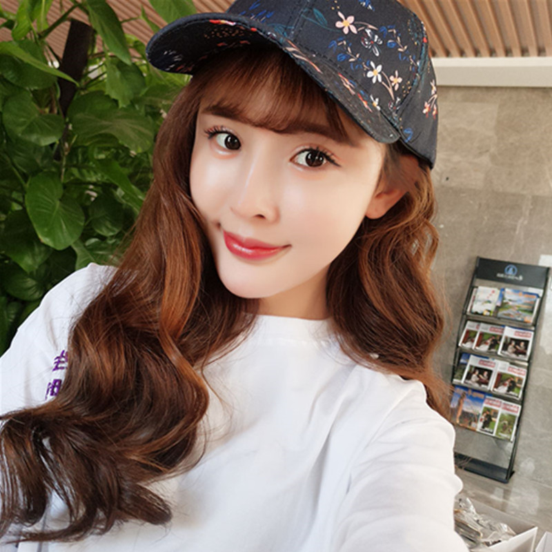 Female Summer Fashion Baseball Cap Women Floral Leisure Wild Duck Tongue Cap Summer Sun Hat
