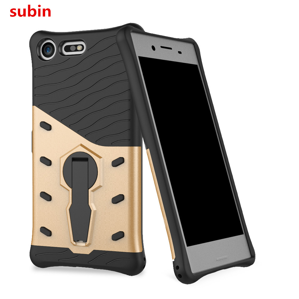 new style eb871 a6e43 US $3.43 12% OFF|For Sony Xperia XZ Premium G8141 E5563 Case TPU+PC Armor  Phone Bag rotation Holder Cover For Sony Xperia XZ Premium Dual G8142-in ...