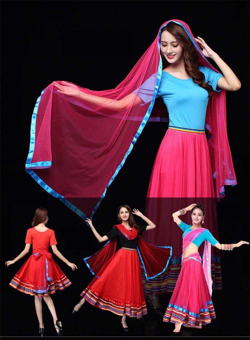 2nd Mảnh 15% Giảm Giá Ấn Độ Sari Múa Bụng Đầm Tây Tạng Xã Hội Nhảy Múa Kathak BharataNatyam Plus Kích Thước 6XL Miễn Phí Vận Chuyển