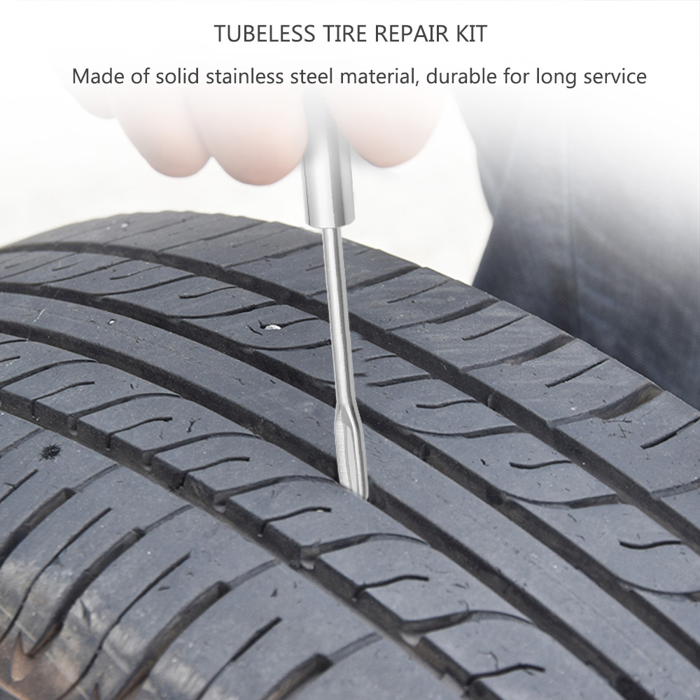 Car Tubeless Tire Repair Kit Bike Auto Tyre Puncture Plugger Diagnostic Tool Accessories Steel Needle In Tools From