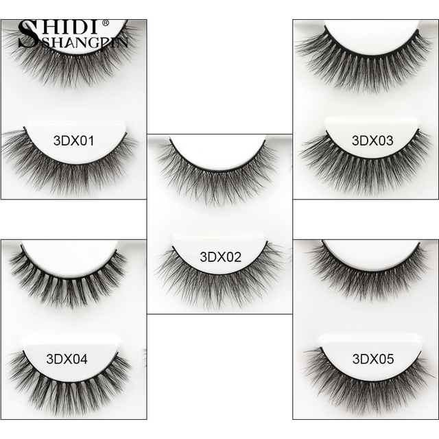 SHIDISHANGPIN 3 pairs mink eyelashes natural false lashes wispy 3d mink lashes makeup false eyelashes eyelash extension lashes 1