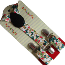 ; Новинка года; модные милые детские подтяжки с принтом бабочки для девочек 1-8 лет