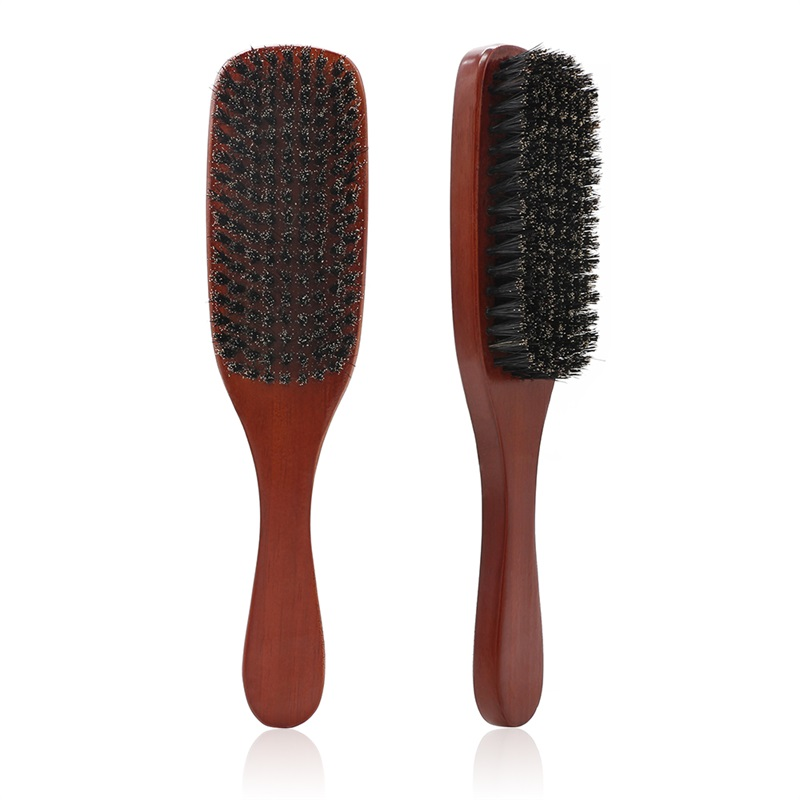 100% Natural Boar Bristle Beard Brush Men Facial Hair Cleaning Brush Professional Beard Shaving Tools