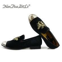 Men shoes 2019 Sneakers Handmade  Men's Velvet Loafers Wedding Party Men Shoes Luxury Brand Noble Elegant Dress Shoes for Men