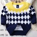 2017 nova inverno hedging grosso longo-sleeved camisola crianças camisola meninos Pulôver de algodão menino camisola do bebê para 3-9 anos