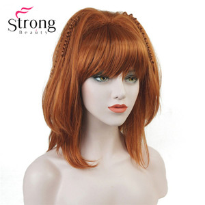 Image 2 - StrongBeauty Cosplay Alla Pugacheva Hairstyle Copper Red Black Blonde Party Wig Halloween Wigs Womens Full Synthetic Hair