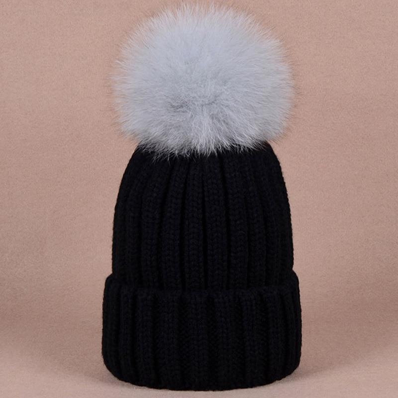 8fb93417160 Stylish warm beanies winter hat with quality large size black raccoon dog  fur
