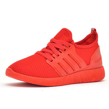 Women Shoes Spring New Designer Wedges Red Black Platform Sneakers Casual Air Mesh Female Flats For Shoe