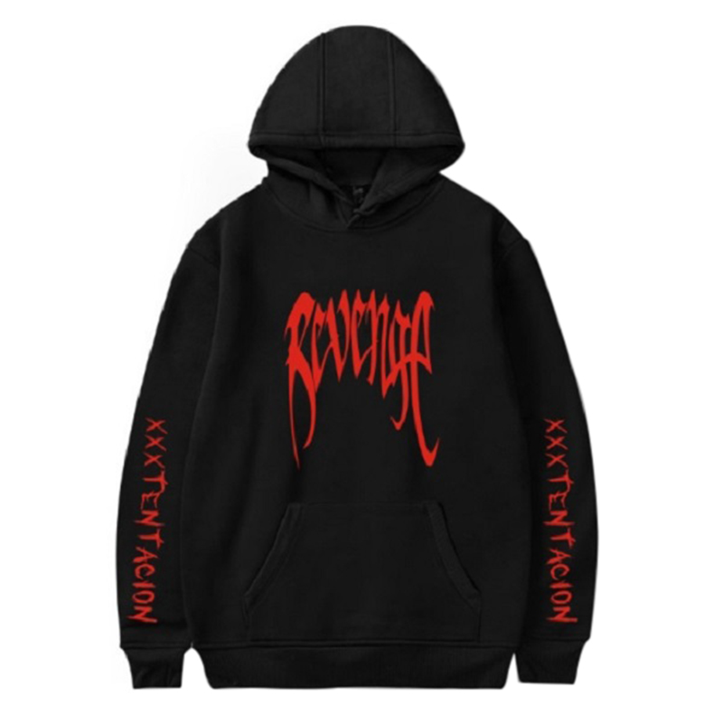 Cotton 2018 Men REVENGE Black - Tentacion Bad Vibes Forever sweatshirts men hoodies hoods Hoody XXXTentacion Hoodies худи xxxtentacion