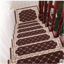 High-grade new upgrade simple European-style home staircase custom embroidered plastic self-adhesive anti-skid stairs step mat
