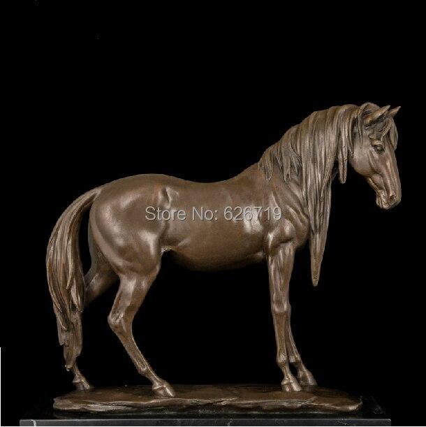 style antique Statuette de cheval bronze