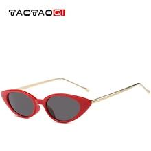 TAOTAOQI Luxury Cat Eye Sunglasses Women Fashion Designer Small Box Vintage Female Sun Glasses Oculos de sol UV400