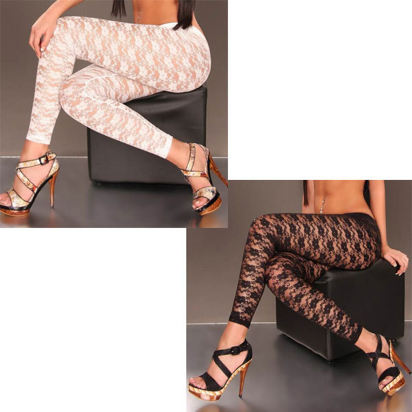 New Fashion Sexy Lace Leggings sexy transparent legging 3S8224 Free shipping Hot sexy leggings