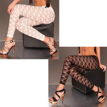 New Fashion Sexy Lace Leggings horny clear legging  3S8224 Free transport Hot horny leggings