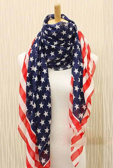 SELL WELL 2015 Spring Ladies Usa Flag Scarf American Flag Scarf