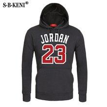 b01031745b4 2018 marca masculina hip hop manga longa jordan 23 com capuz moletom com  capuz dos homens agasalho casaco de suor sportswear cas.