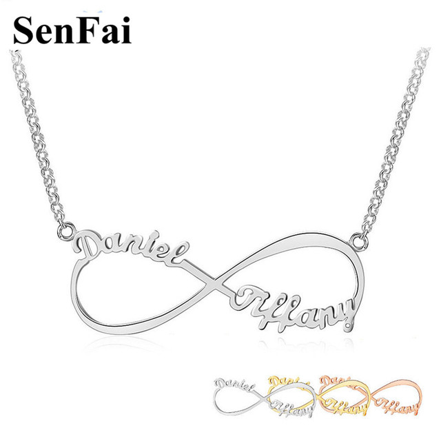Best Quality Price Custom Name Necklace Pendant For Women S Infinity Love Gold Silver Pendants