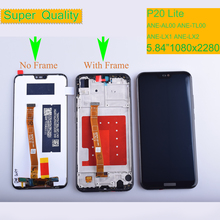 LCD With Frame For HUAWEI P20 Lite Lcd Display Screen For HUAWEI P20 Lite ANE-LX1 ANE-LX3 Nova 3e LCD Assembly for huawei nova 3e case aluminum metal bumper case for huawei p20 lite dual color frame for huawei nova 3e case cover 5 84