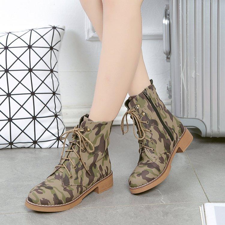 Martin Tobillo Mujer 19 Tops Plataforma De Zapatos 2 Tacones Nieve Cuero Para 1 Las Combate Botas Militar Camuflaje Mujeres zHRfxwqAf