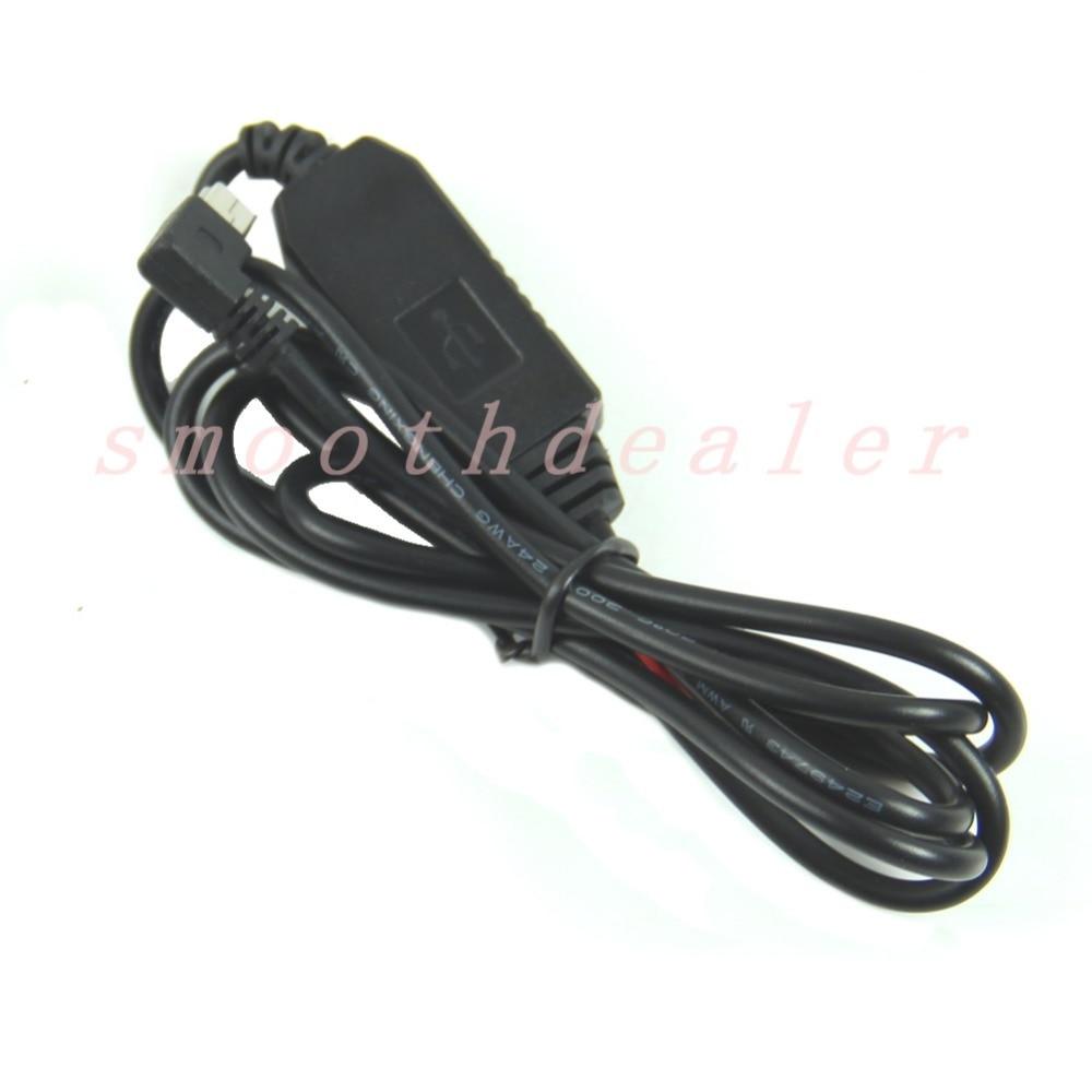 1Meter DC 12V-24V to 5V 3A Left Angled 90°Mini USB Power Converter Adapter Cable