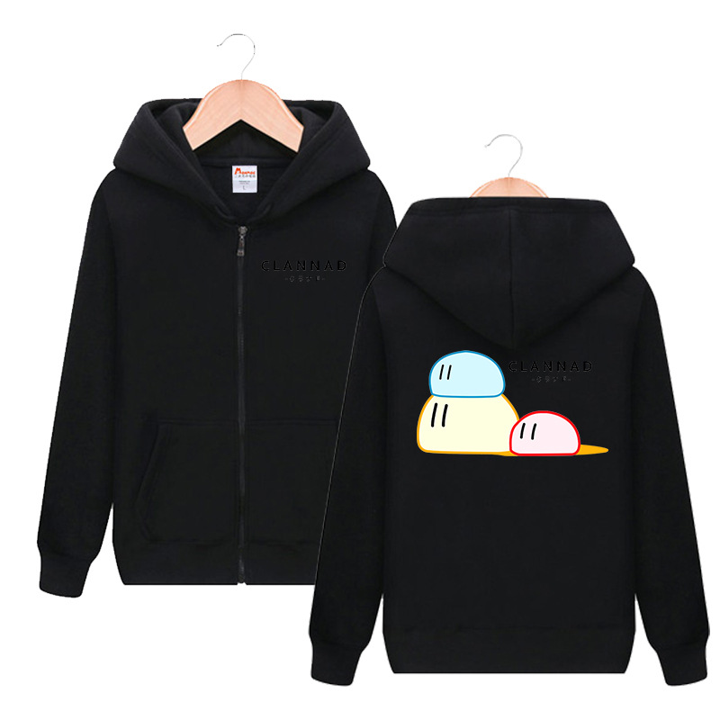 CLANNAD Cute Print Hooded Hoodie Cosplay Costume Dango Daikazoku Men Women Spring Autumn Fashion Casual Sweatshirt Streetwear
