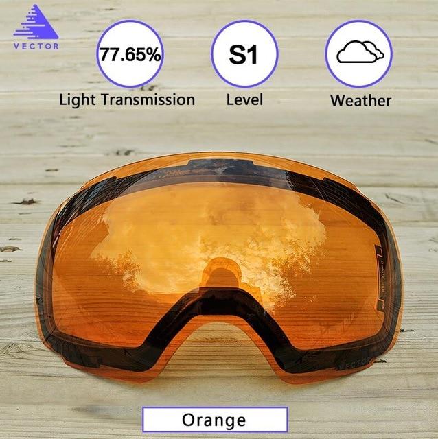 8bfa5d9d7cc Dropwow Anti-fog UV400 Skiing Goggles Lens Magnet Adsorption Weak ...