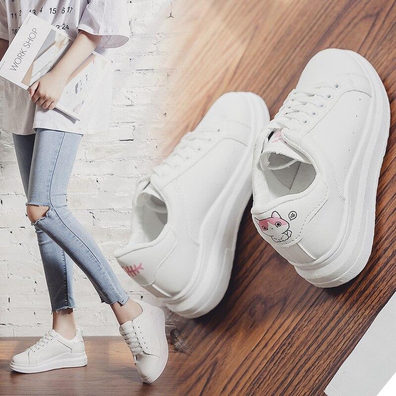 Plat Dames Casual Résistant Haute Vent L'usure Art Chaussures Visage Non Pink Confortable À Femmes Collège Sauvage Cuir Simple blue slip Sneakers Mignon En 4UHxEqTFw