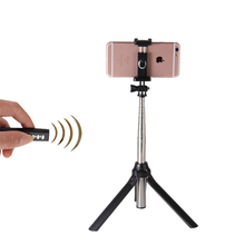 3 In 1 Handheld Selfie Stick Extendable Monopod Mini Tripod Bluetooth Remote Shutter For iPhone Android IOS SmartPhone