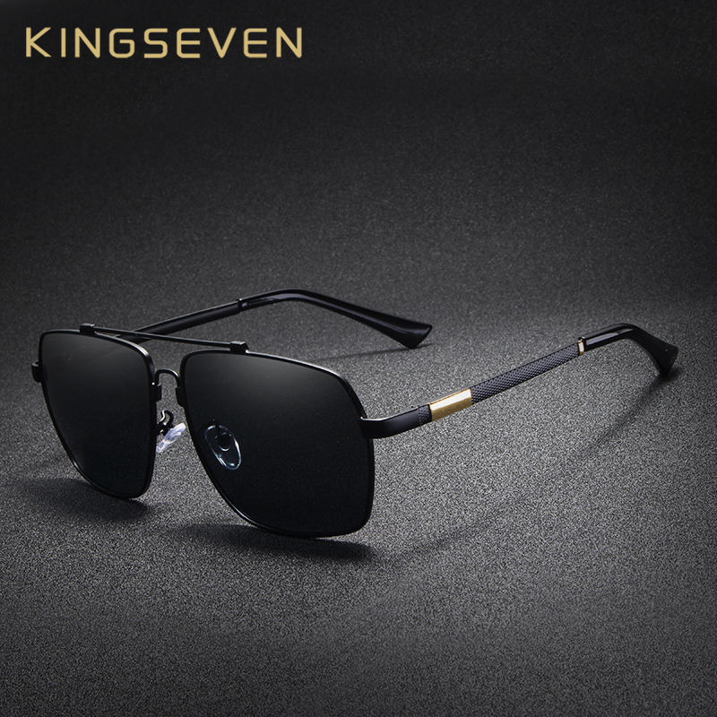 Detail Feedback Questions about KINGSEVEN Brand Polarized Sunglasses For Men  Aluminum Oculos Men s Fashion Square Driving Eyewear Memory Metal Sun  Glasses ... 41235076e7