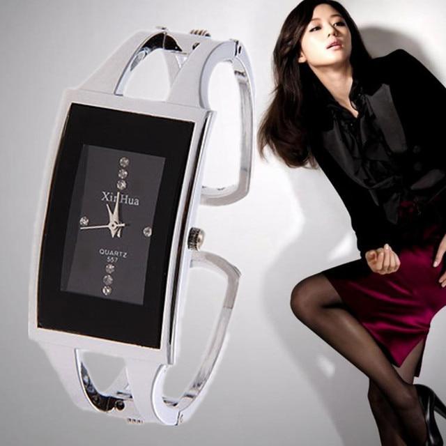 Top Brand Luxury Crystal Bracelet Women's Watches Stainless Steel Ladies Watch W