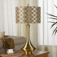 Роскошный Metalelectroplating рисунок лампа тела прикроватные лампы для Спальня Гостиная ночник декоративные настольные лампы