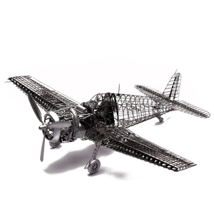 Image 2 - MMZ MODEL Jasmine 3D metal puzzle 1/48 F6F 5 Hell cat fighter Full PE skeleton Assembly aircraft model 3D Laser Cut Jigsaw Toy