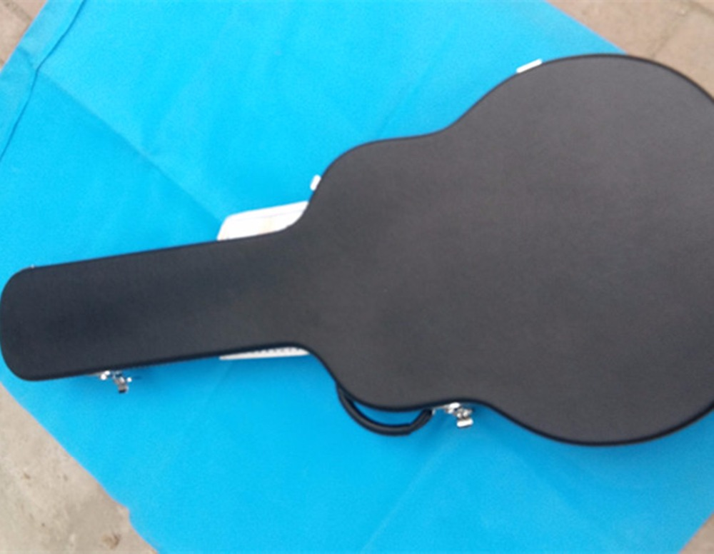 new Big John 43 accoustic guitar part accessory guitar hardcase in black  2061 big john модель 65d