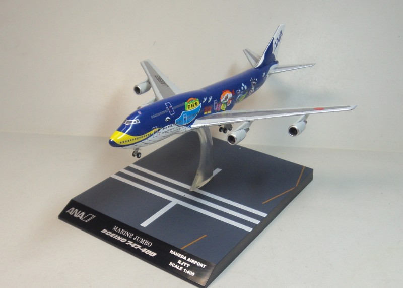 Hogan 1:400 ANA Boeing 747-400 ja8963 blue painting ana ana ys 11 alloy hogan 1 200 ja8756 ana aircraft model