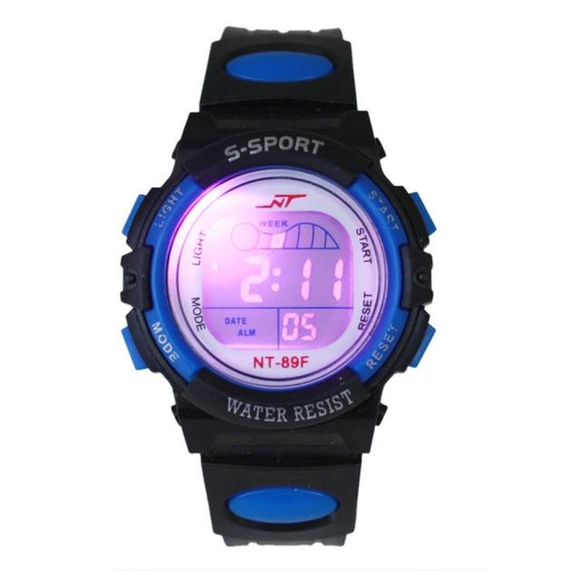 Waterproof Fashion Casual Children Kid Boy Digital LED Quartz Alarm Date Sports