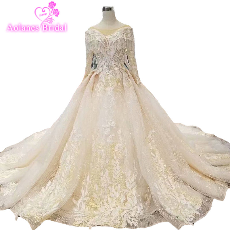 Cathedral Length Train Wedding Gowns