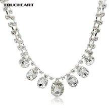 Женское колье с кристаллами toucheart серебряное ожерелье длинной