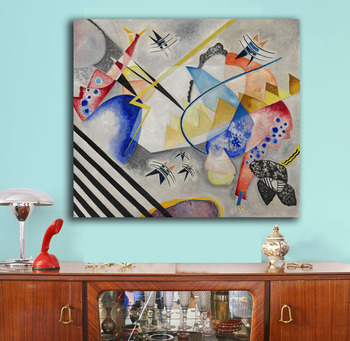 White Center by Wassily Kandinsky 1921 Printed on Canvas 1