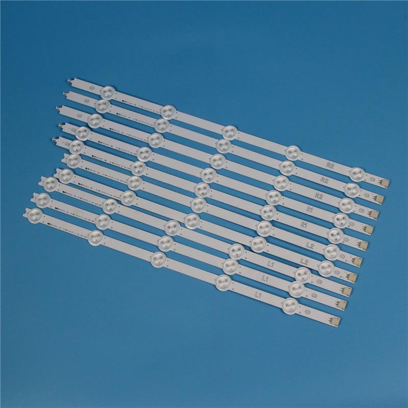 10 Lamps 820mm LED Backlight Strip Kit For LG 42LA6130 42LA6134 42LA6136 42 Inchs TV Array LED Strips Backlight Bars Light Bands