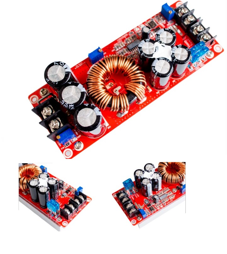 1PCS 1200W 20A DC Converter Boost Car Step-up Power Supply Module 8-60V to 12-83V