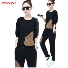 Spring Autumn 2 piece set Long-sleeve Women Suits Large size 5XL Loose