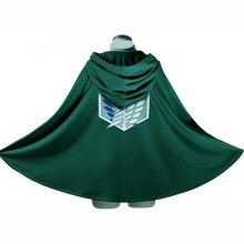 On Sale Anime Attack on Titan Cloak Shingeki no Kyojin Scouting Legion Aren / Levi Capes Cosplay Costume