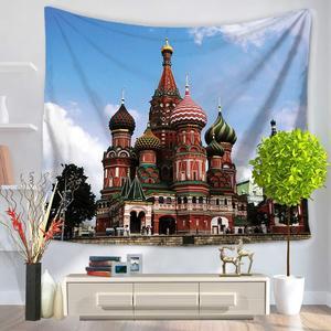 Image 5 - CAMMITEVER tapiz colgante con estatua de la libertad de EE. UU., Taj Mahal, poliéster, manta de 150x130cm, esterilla de Yoga para dormitorio, decoración del hogar