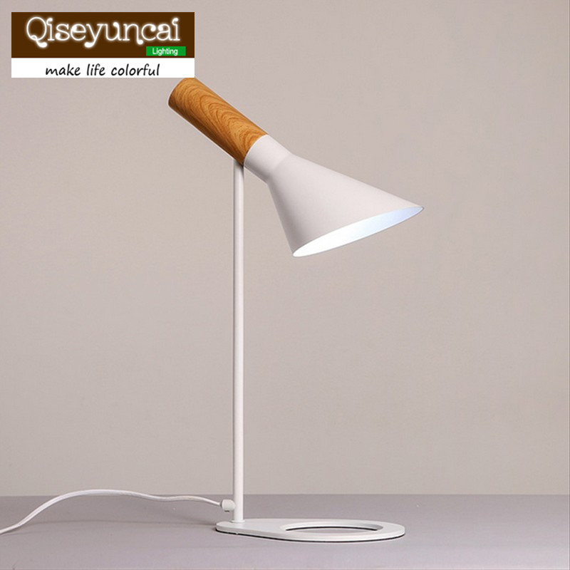 Qiseyuncai Replica Louis Poulsen Arne Jacobsen Table lamp Europe E27 AJ Desk Lamp Cafe Aisle Hall read Lights