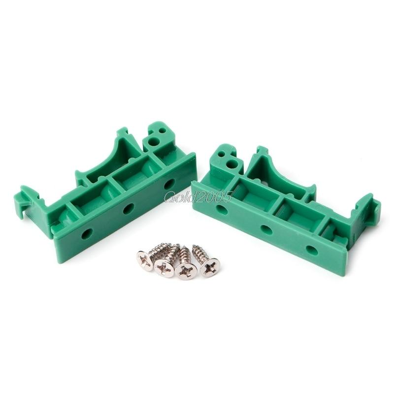 1 pair PCB Din C45 Rail Adapter Circuit Board Mounting Bracket Holder 35mm